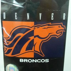New Vintage Biederlack Denver Broncos Blanket